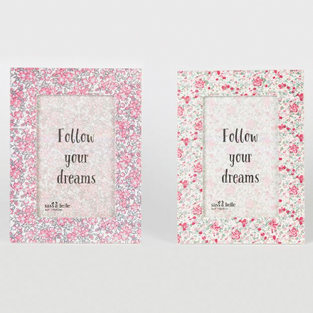 Beautiful Floral Rectangle Frame By Sass & Belle Follow Your Dreams